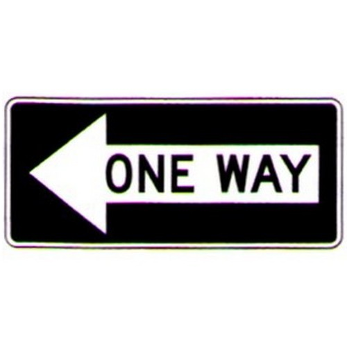One Way On Left Arrow Sign