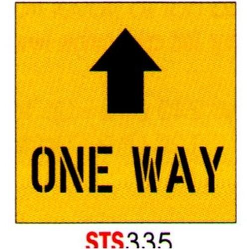 One Way+Up Arrow Stencil