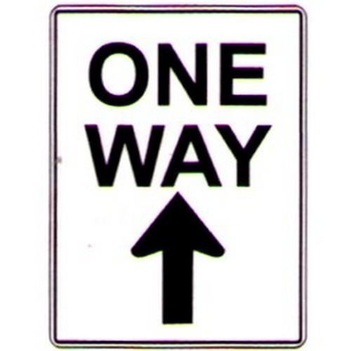 One Way Upwards Arrow Sign