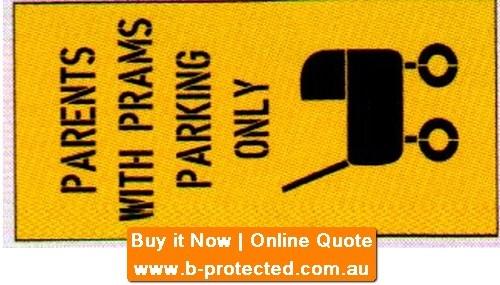 Parents & Prams Etc Car Park Stencil