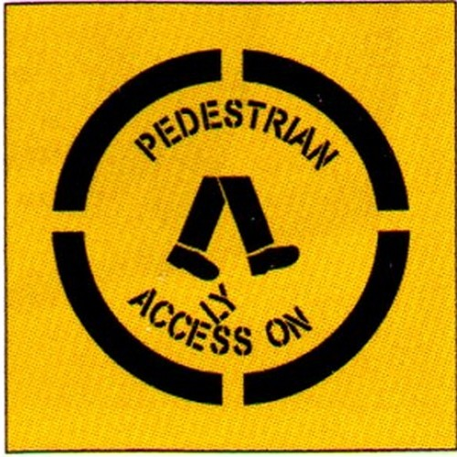 Ped Access Only Legs Stencil