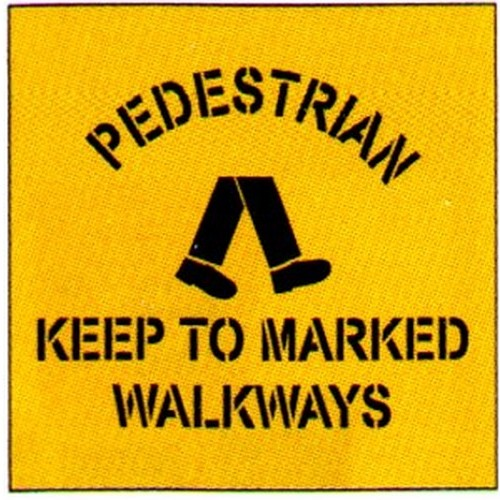 Peds Keep To MarkSymbol Stencil
