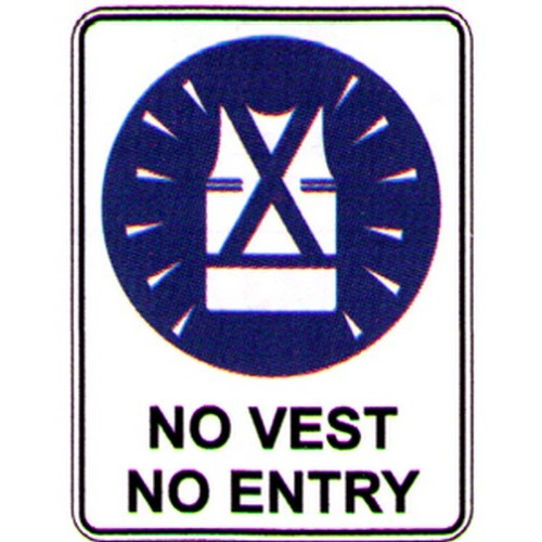 Symbol No Vest No Entry Sign
