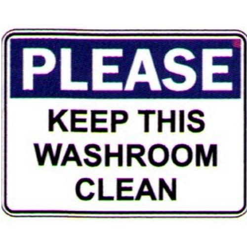 Please Keep This Washroom Clean Labels