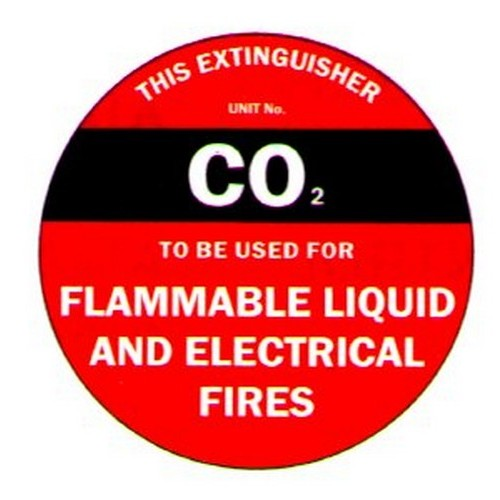 Poly Fire Extinguisher Disc C02