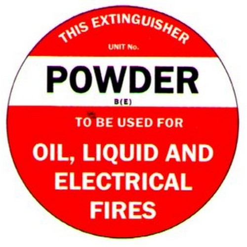 Poly Fire Extinguisher Disc Powder BE