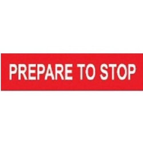 Prepare To Stop Multi Message Sign