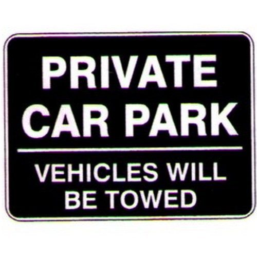 Private Car Park Veh Sign