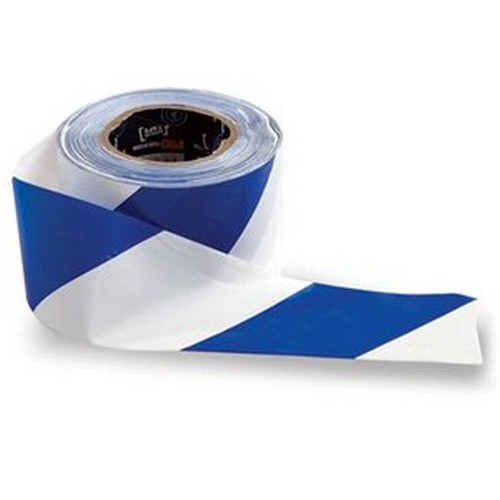 Blue and White Barricade Tape