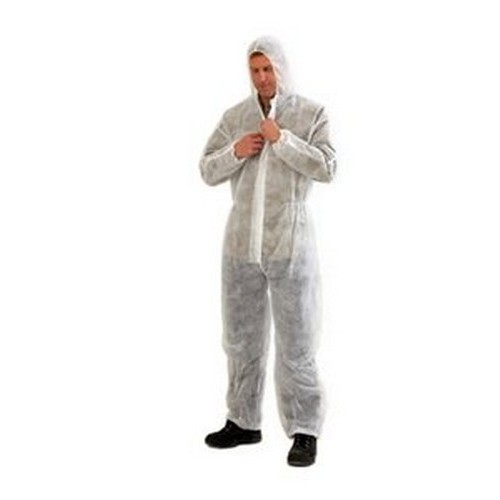 PRO White Disposable Coverall