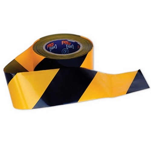 Yellow and Black Barricade Tape