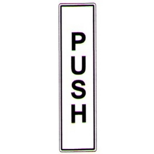 Push Label BW Vertical