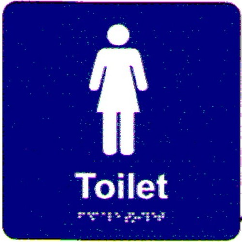 Ladies-Toilet-Braille-Sign