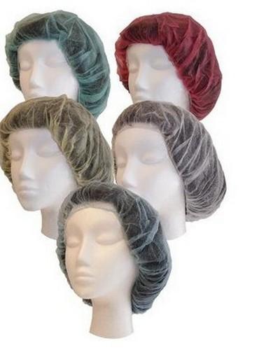 Red bouffant cap