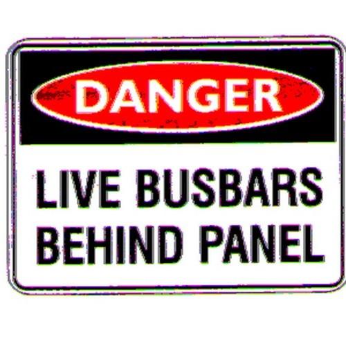 Reflective Danger Busbars Behind Sign