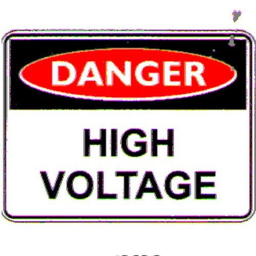 Reflective Danger High Voltage Sign