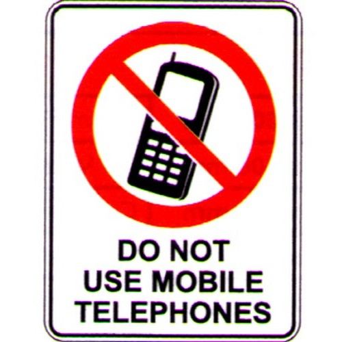 Reflective-Do-Not-Use-Mobile-Tele-Sign