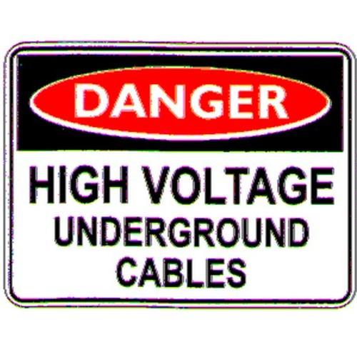Reflective Danger High Volt UG Cab Sign