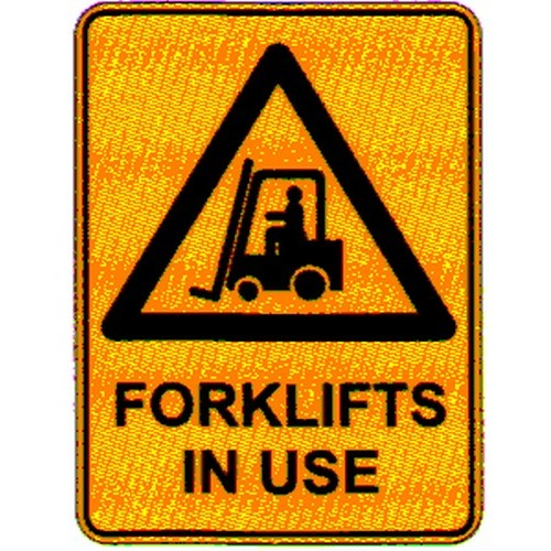 Reflective Warning Forklift In Use