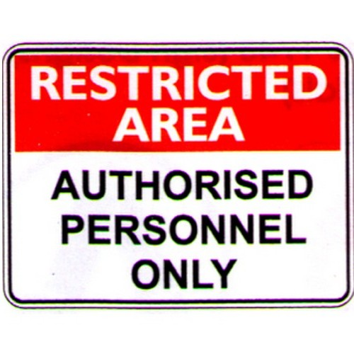 Rest Area Auth Persons Only Sign