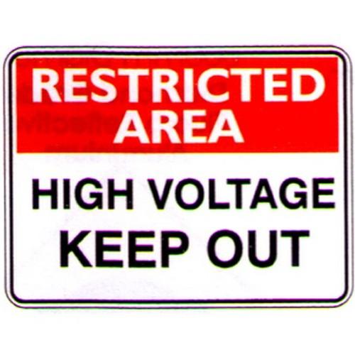 Rest-Area-High-Voltage-Sign