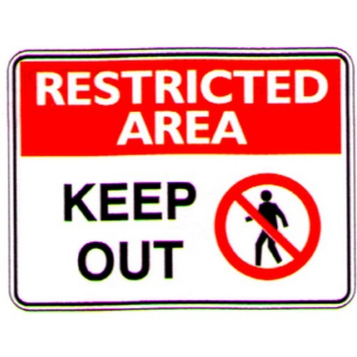 Rest Area Keep Out Symbol Sign