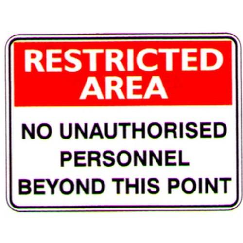 Rest Area No Unauthorised Sign