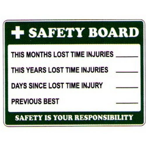 Safety Board Sign
