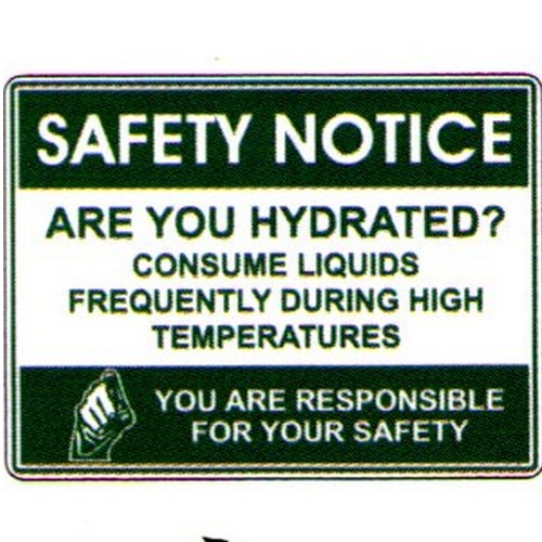 Safety Notice Are You Hydr Sign