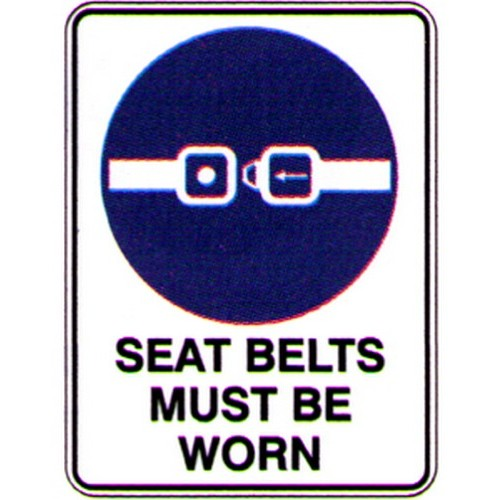 Seat Belts Must Be Worn Labels