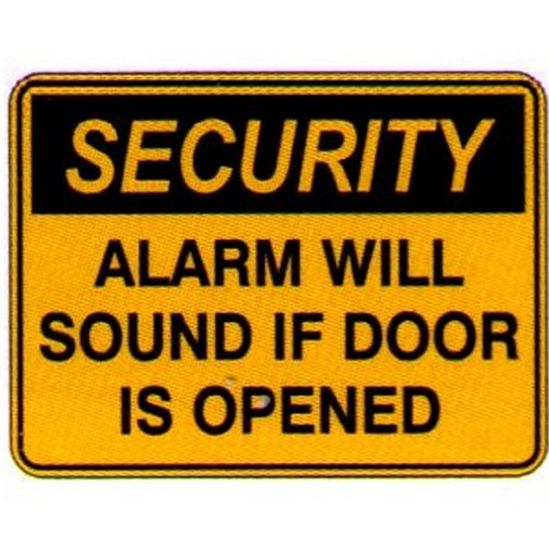Security Alarm Will Sound Labels