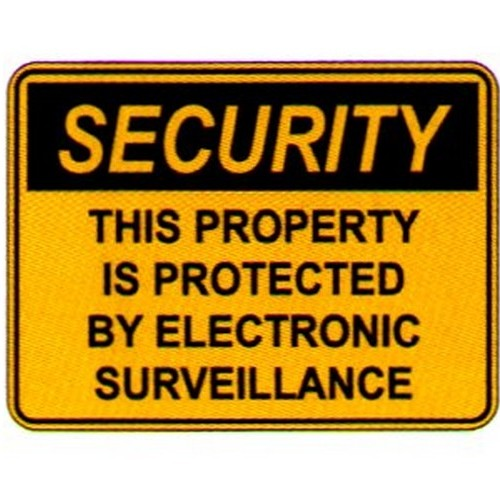 Security This Prop Is Prot Sign