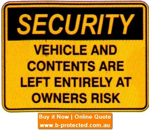 Security Vehicles  Sign