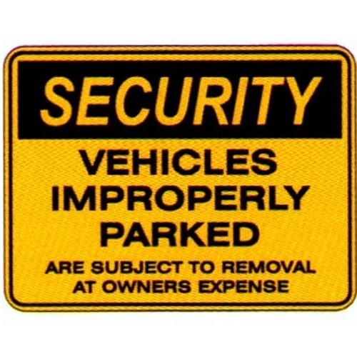 Security Vehicles Improperly Sign