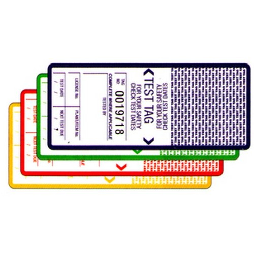 Self Laminating Yellow Test Tags