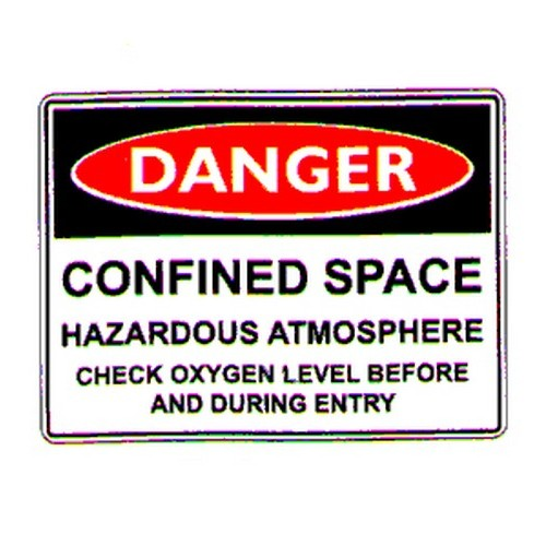 Stick Danger Confined Space Label