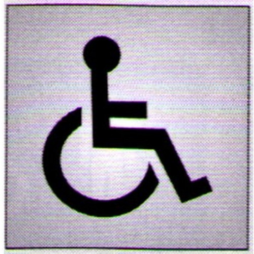 Silver Black Disabled Sign