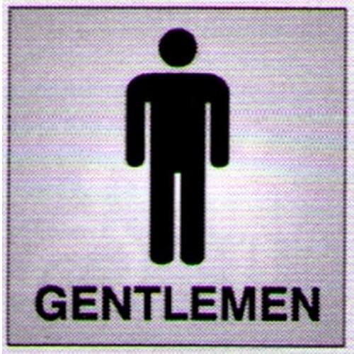Silver Black Gentlemen Sign