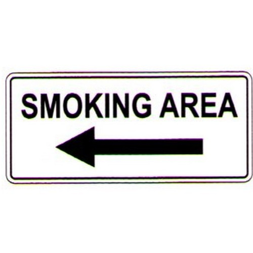 Smoking Area LArrow Sign