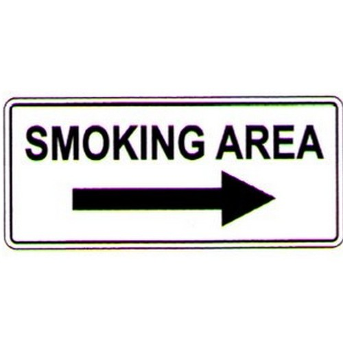 Smoking Area RArrow Sign