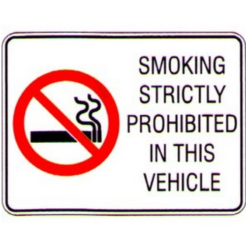 Smoking Strictly Vehicle Labels