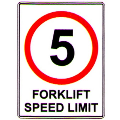 Speed 5km Forklift Limit Sign