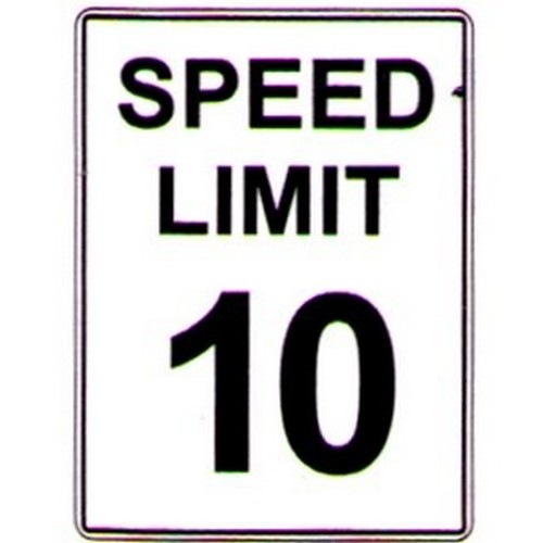Speed-Limit-10-Text-Sign