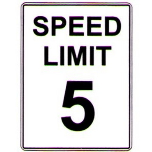 Speed-Limit-5-Text-Sign