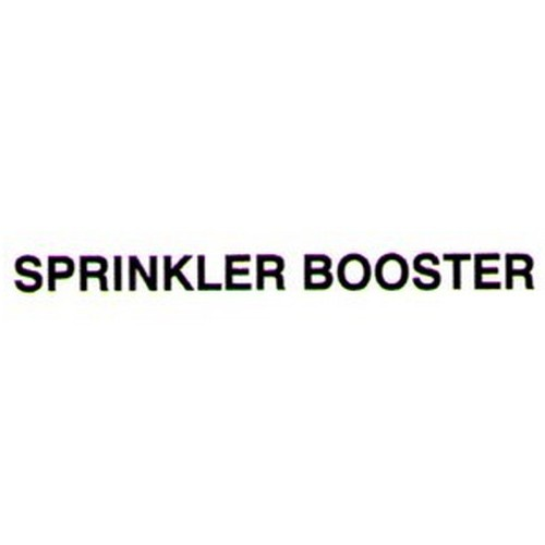 SPRINKLER BOOSTER Door Label
