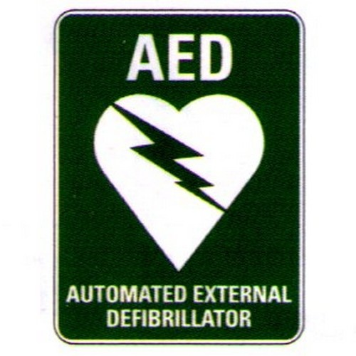 Stick AED Auto External Defib Label