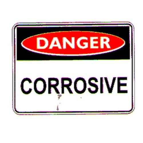 Stick Danger Corrosive Label