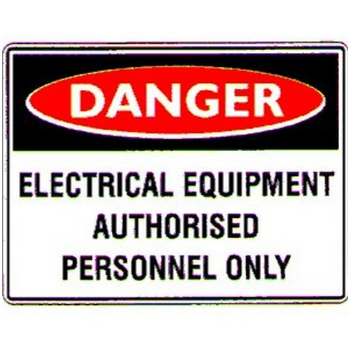 Stick Danger Electrical Equip Label