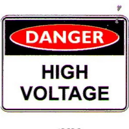 Stick Danger High Voltage Label