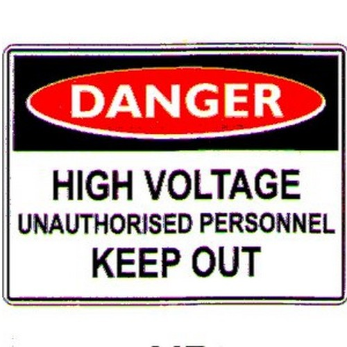 Stick Danger High Voltage Unauth Label